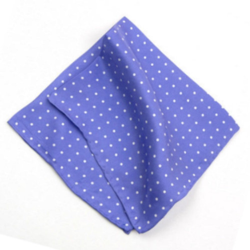 Light Purple Polka Dot Handkerchief For Men