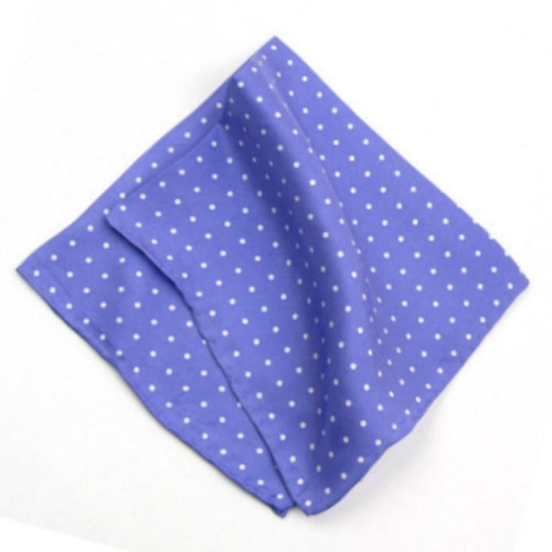 Light Purple Polka Dot Handkerchief For Men