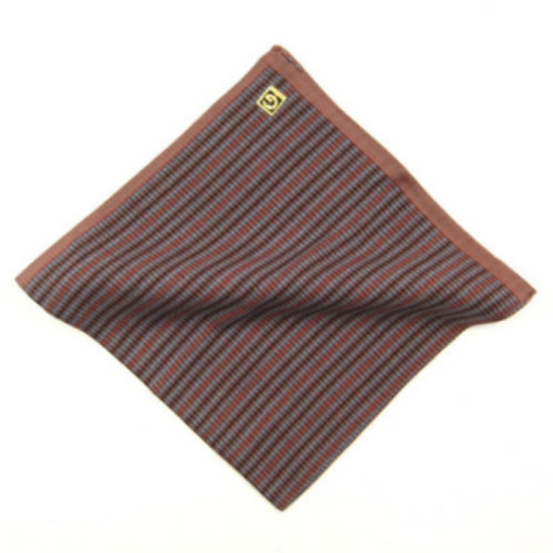 Burgundy Stripe Men's Hankie