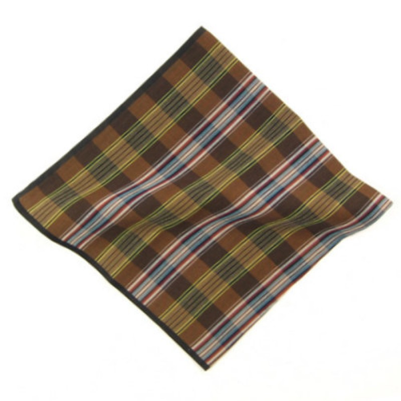 Luxury Check Male Pocket Square
