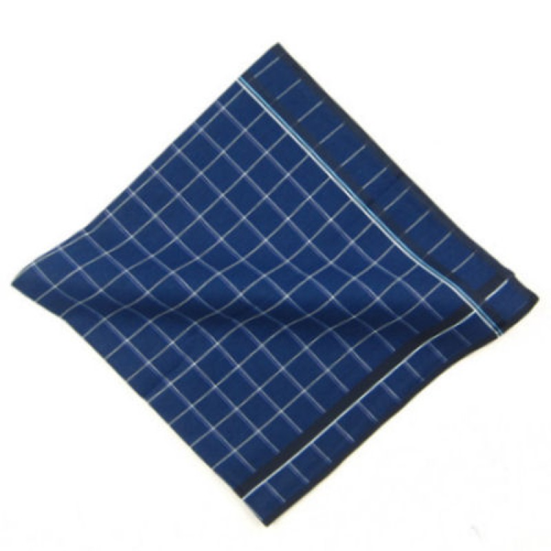 Deep Blue Squared Pocket Hankie