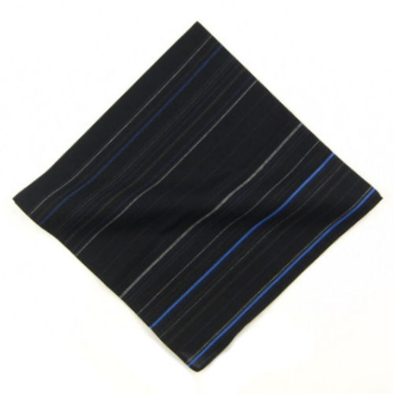 Fine Stripe Dark Men's Handkerchief