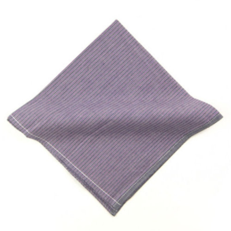Lavender Stripe Pocket Square